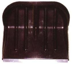 Лопата снеговая №2 410х360мм пластмассовая в сборе с алюминиевым черенком и V-обр ручкой (ал/пл)