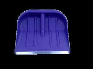 Лопата снеговая №2 410х360мм Цветная  пластм в сборе с дерев черенком и V-обр ручкой (оц/пл)