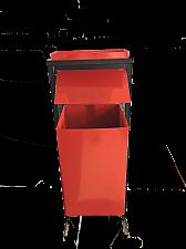 Урна металлическая квадратная с пепельницей У-2 (упакована в коробку)