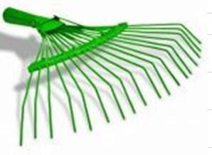 Грабли веерные проволочные оцинк. 18зуб