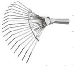 Грабли веерные проволочные большие оцинк 22зуб