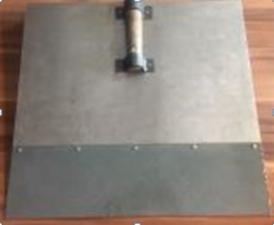 Лопата тротуарная алюминиевая 530*500мм ЛТА 2мм
