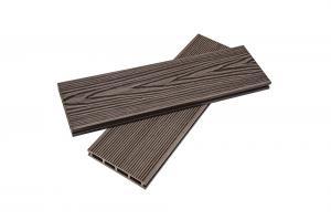 Террасная доска «КЕДР» мелкий вельвет Коричневая (25*150*3000мм)
