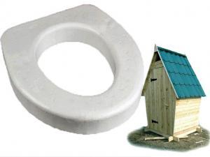 Сиденье для дачного туалета 440х400х65мм