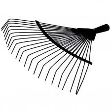 Грабли веерные проволочные  22зуб (Рельсовая сталь)