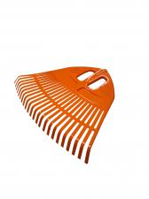 Грабли веерные пластмассовые 23 зуба оранжевые 500мм