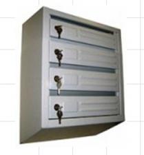 Ящик почтовый 4-х секционный вертикальный с внутренним замком (510*380*190)