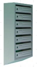Ящик почтовый 6-ти секционный вертикальный с внутренним замком (690*380*190)