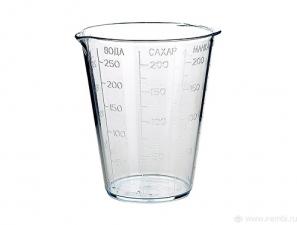Стакан мерный пластиковый 250мл