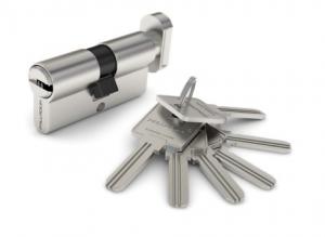 Цилиндрический механизм 60 (хром ключ-вертушка)