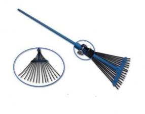 Грабли веерные проволочные раздвижные на металл ручке 15зуб. ГВ-С 649