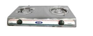 Плита газовая 2-конфорки EN-202A (нерж. корпус) 2*2800 Вт