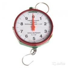 Весы безмен 10кг. круглые пластмассовые