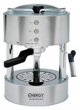 Кофеварка ENERGY ELEGANCE EN-604S, (давление помпы 15 бар, объем 1л)