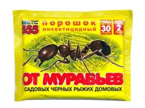 """Порошок от муравьев """"Веста 555"""" 30гр  от садовых, рыжих, черных, домовых"""