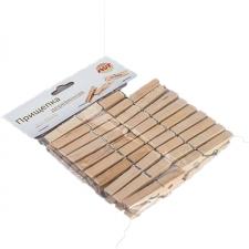 Прищепки деревянные усиленные 20 шт.в упаковке