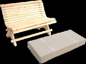 Скамейка деревянная садово-уличная