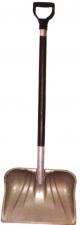Лопата снеговая №5 450х290мм пластм в сборе  с дерев черенком и V-обр ручкой (ал/пл)