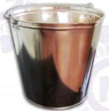 Ведро подойник 12л. (пищевая жесть) Омутнинск клепанное ушко (в бум мешке , покрыто антикоррозийной смазкой)
