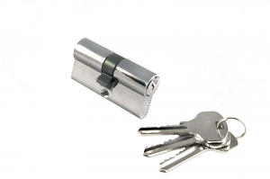 Цилиндрический механизм 60 (хром ключ-ключ)