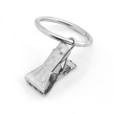 Зажим для штор металлический с кольцом d=27