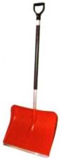 Лопата снеговая №1 400х490мм пластм в сборе с дерев черенокм и с V-обр ручкой (ал/пл)