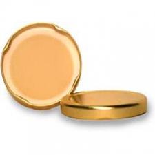 Крышка ТВИСТ-офф 82  однотонная (цвет золото)