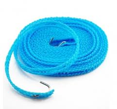 Веревка бельевая 5м с крючками и отв. для вешалок