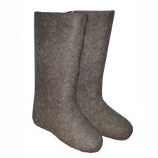 Валяная обувь натуральная серая 1 сорт (100% шерсть, размеры 27-31)