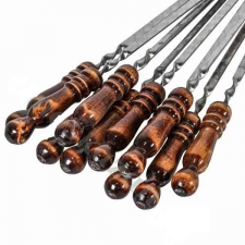 Шампур с деревянной ручкой 350*12*3мм