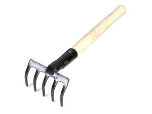 Грабли 4-х зубые прямые Нерж с черенком ГП-4н