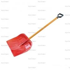 Лопата снеговая Оранж пластм с дер черенком и V-руч