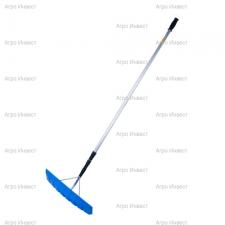Скребок для уборки снега с крыш №18  с телескопической ручкой в сборе(выдвигается до 9м)
