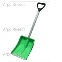 Лопата автомобильная (оцинк планка) с алюм. черенком и V-руч. 365х250мм