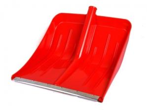 Лопата снеговая Цветная 500х400мм пластмассовая (оцинк планка)