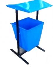 Урна металлическая поворотная (20л) №3 толщ металла 0,6-0,8мм, пор окр 740*390*390