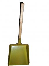 Совок хозяйственный металлический с деревянной ручкой