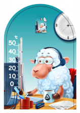 """Термометр """"Зоо мир"""" на липучке исп2"""