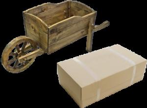 Тачка цветочница деревянная (эконом)