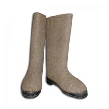 Валяная обувь натуральная серая 1 сорт на резиновой подошве (100% шерсть, размеры 32-34 )